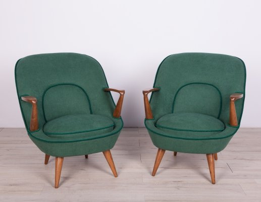Pair of Model 345 Armchairs by J. Jędrachowicz & K. Racinowski for Poznan Furniture Factory, 1960s