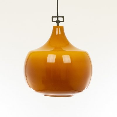 Amber glass pendant by Venini, 1950s