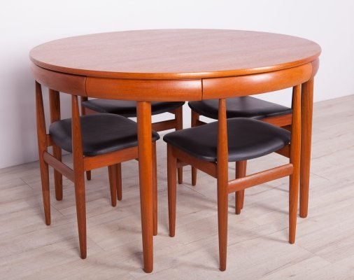 Mid-Century Dining Table & Chairs set by H.Olsen for Frem Røjle, 1960s