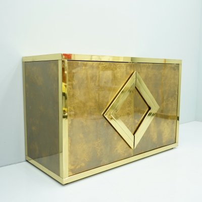 Maison Jansen Brass Sideboard, France 1970s