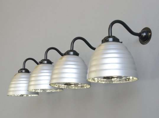 Large Wall Mounted Mercury Glass Lights by Gepe, Circa 1930s