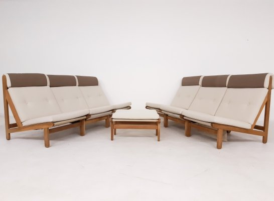 Set of 6 'Rag' lounge chairs by Bernt Petersen for Schiang, Denmark 1965