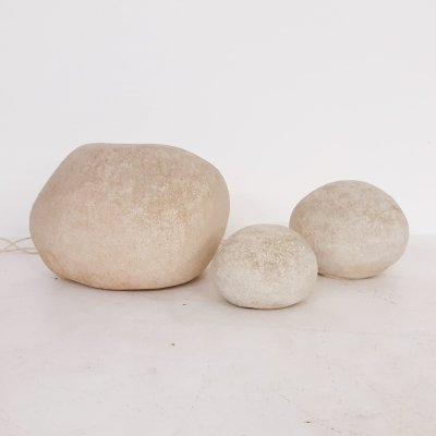 Set of 3 Dorra Rock floor lights by Andre Cazenave for Atelier A, France 1969
