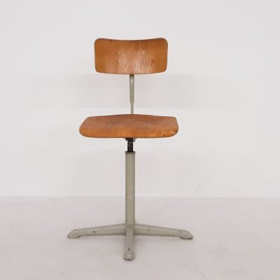 Friso Kramer for Ahrend de Cirkel drafting stool, The Netherlands 1950's