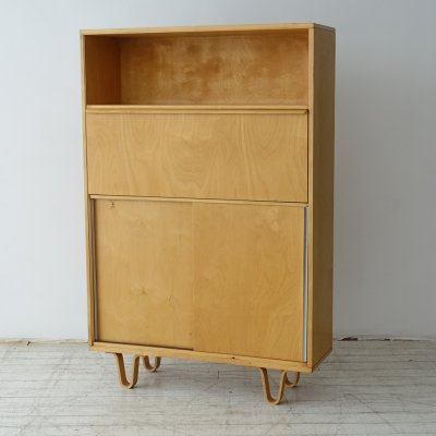 BB54 birch series secretary/cabinet by Cees Braakman for Pastoe, 1950s
