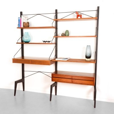 Vintage Danish floorstanding wall unit by Poul Cadovius for Cado, 1960's