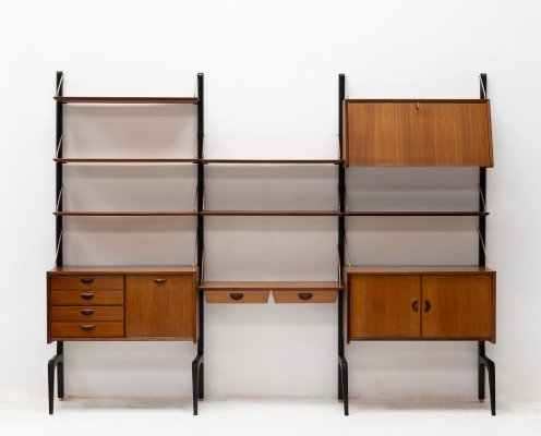 3-piece standing wall unit by Louis van Teeffelen for Wébé