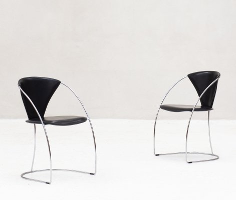 Set of two 'Linda' armchairs by Arrben Italy, 1982