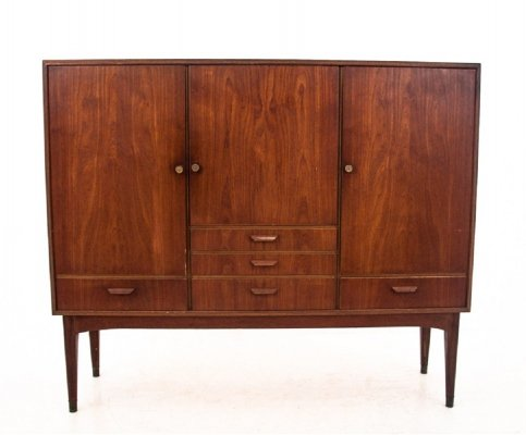 Teak Highboard, Denmark 1960s
