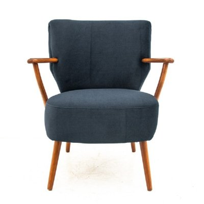 Midcentury navy blue club chair