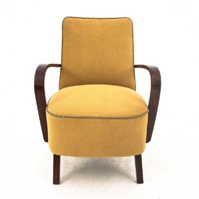Midcentury yellow club chair