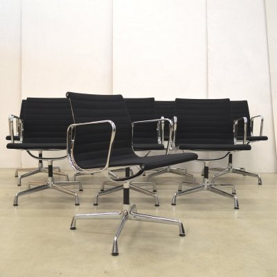 Set of 6 EA108 office chairs by Charles & Ray Eames for Vitra, 1990s