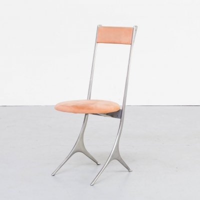 80s Minimalistic Italian design side chair for Zanotta