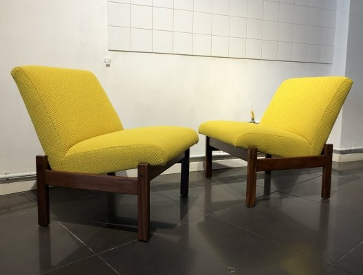 Pair of 'Domino' Easy Chairs by Yngve Ekström for Pastoe, 1960s