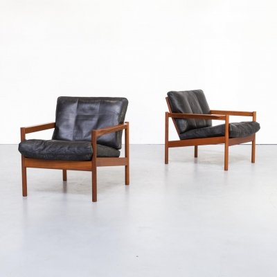 Pair of Kai Kristiansen 'KK161' chairs for Magnus Olesen, 1960s