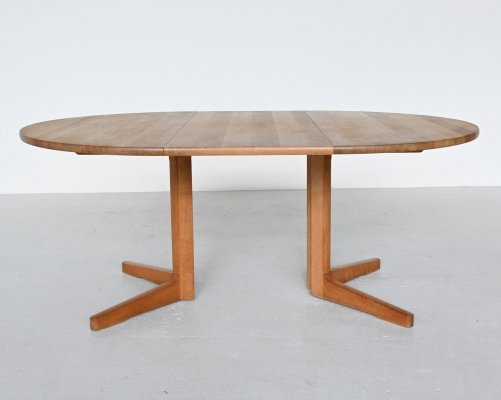 CJ Rosengaarden oak extendable dining table, Denmark 1981