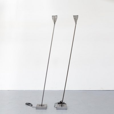 Pair of early edition metal floorlamps for Baxter, 1990s