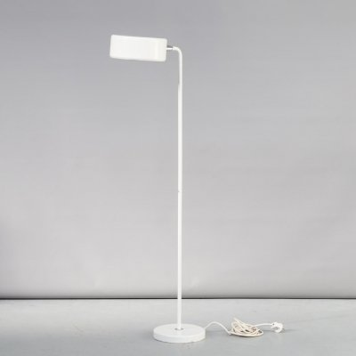 Anders Pehrson 'Olympia' white metal floorlamp for Atelje Lykthan, 1980s