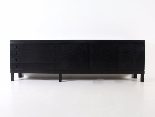 Brutalist blackened oak sideboard, 1970's