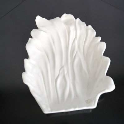 Large Tommaso Barbi White Ceramic Centerpiece, Italy 1970s