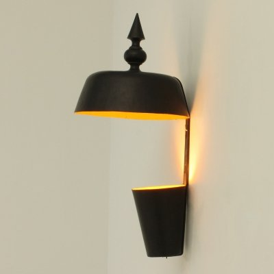 Large Spanish Cast Iron Sconce, 1960's