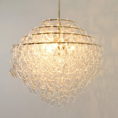 Glass Italian Chandelier, 1970s