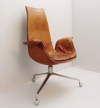 Fabricius & Kastholm Desk Chair in Cognac Leather