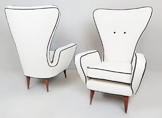 Pair of Armchairs by Emilio Sala & Giorgio Madini for Decortex Firenze, 1950s