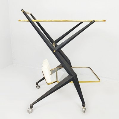 Italian Serving Trolley by Angelo Ostuni, Italy 1950s