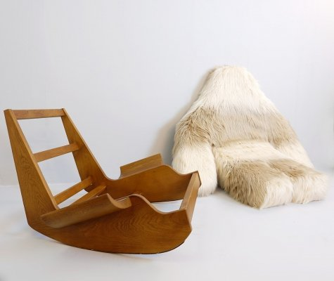 'Yeti ' Pop Art Rocking Chair by Mario Scheichenbauer, Circa 1968
