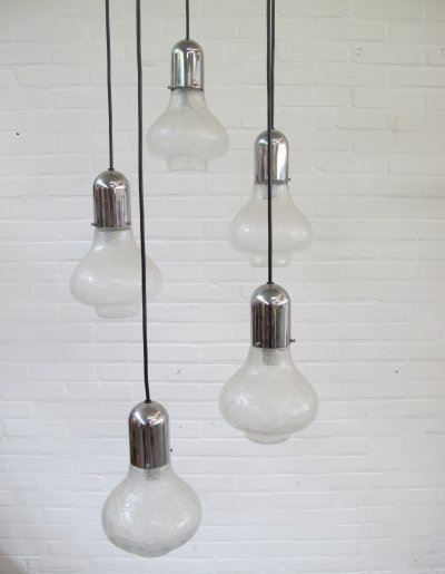 Space age hanging lamp with 5 lights, 1960s