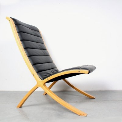 Ax highback lounge chair by Peter Hvidt & Orla Mølgaard Nielsen for Fritz Hansen, 1980s