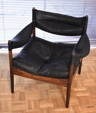 Kristian Vedel Rosewood & Leather 'Modus' Lounge Chair for Søren Willadsen
