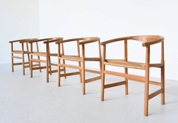 Set of 4 Hans Wegner PP201 dining chairs by PP Mobler, Denmark 1969