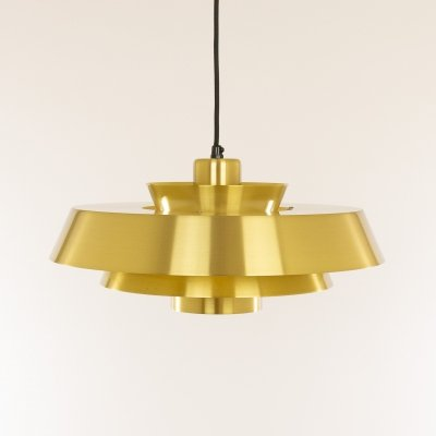 Brass Nova pendant by Jo Hammerborg for Fog & Mørup