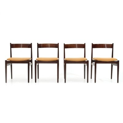 Set of 4 '107' chairs by Gianfranco Frattini for Cassina, 1960s