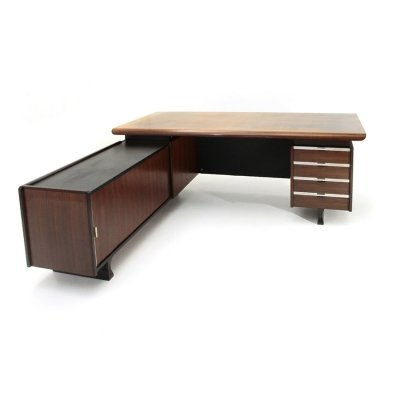 Desk with built-in drawer unit & sideboard by Anonima Castelli, 1960s