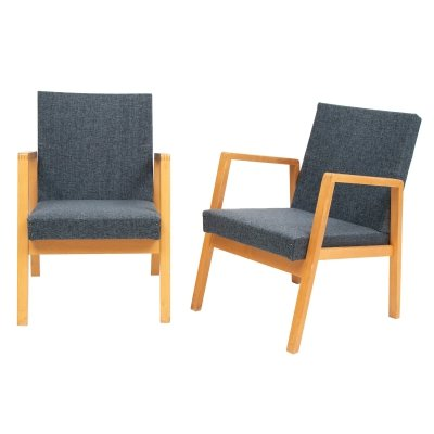Pair of Vintage Upholstered Hallway Chairs by Alvar Aalto