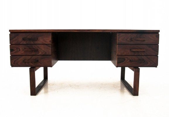 Rosewood desk by Henning Jensen, Danish Design 1960s