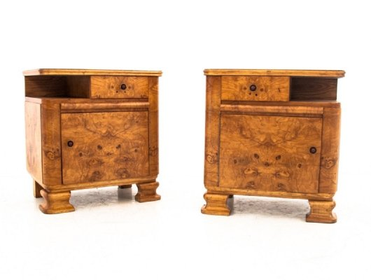 Pair of Bedside tables, Poland 1960s
