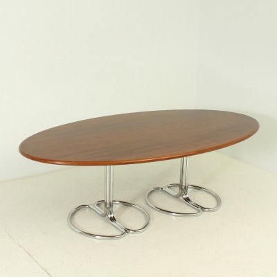 Maia Oval Dining Table by Giotto Stoppino for Bernini, Italy