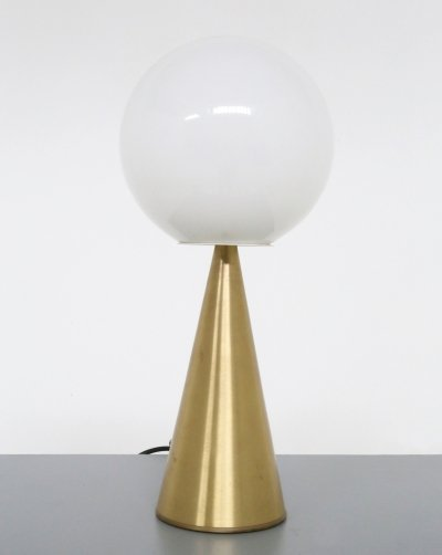 Brass & glass 'Bilia' Table Lamp by Gio Ponti for Fontana Arte, 1940
