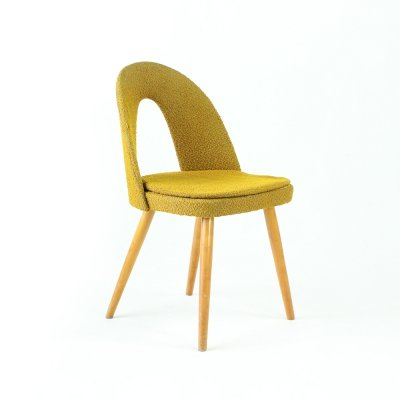 Midcentury Chair in Gold Fabric by Antonin Šuman for Tatra, Czechoslovakia 1960s