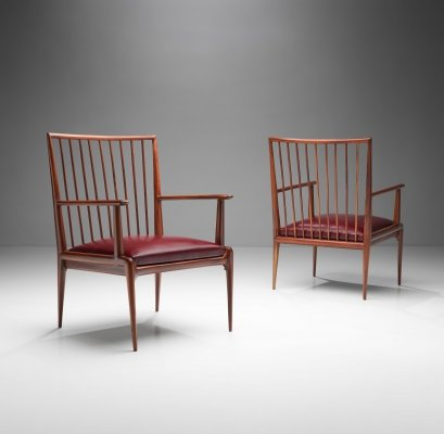 Pair of Mid-Century Chairs, Brazil 1950s