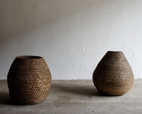 Large Midcentury Rope Baskets, 1950s