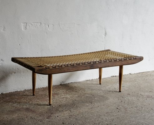 Georges Tigien Coffee Table Bench, 1950s
