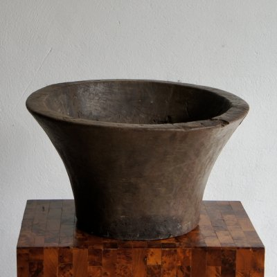 Large Modernist French Hand Carved Pot, 1950s