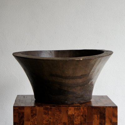 Modernist Carved French Wooden Pot, 1950s