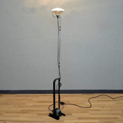 Iconic vintage Toio floor lamp by Achille Castiglioni for Flos, Italy 1960s
