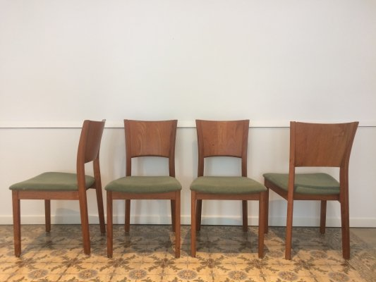 Set of 4 teak chairs by P. Jeppesen Møbelfabrik, 1960s